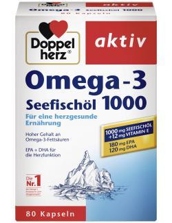 Doppelherz aktiv Omega-3 Seefischöl 1000 Kapseln  - 4009932002515