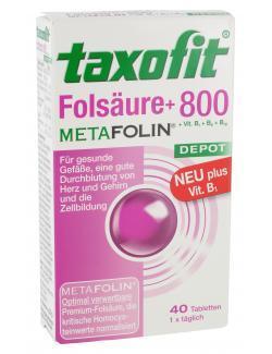 Taxofit Folsäure + 800 Metafolin  - 4008617036005