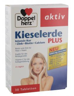 Doppelherz aktiv Kieselerde Plus Intensiv-Kur + Zink + Biotin + Calcium Tabletten  - 4009932007497