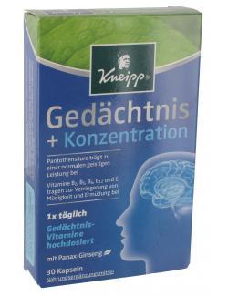 Kneipp Gedächtnis + Konzentration Kapseln  - 4008233124384