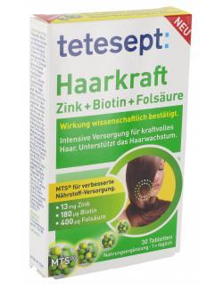 Tetesept Haarkraft Zink + Biotin +  Folsäure  - 4008491115681