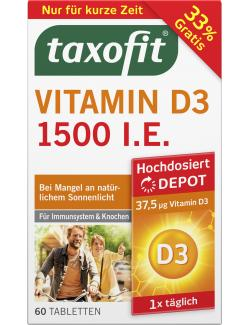 Taxofit Vitamin D3 1200 Tabletten  - 4008617040897