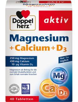 Doppelherz Magnesium + Calcium + D3  (40 St.) - 4009932002560