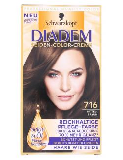 Diadem Seiden-Color-Creme 716 mittelbraun  (142 ml) - 4015001010312