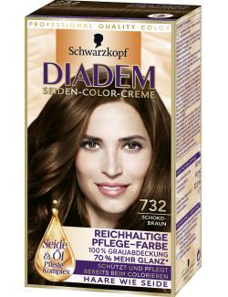 Schwarzkopf Diadem Seiden-Color-Creme schokobraun 732  (142 ml) - 4015001010367