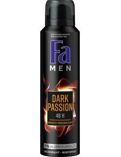 Fa Men Dark Passion Deospray Sensual Fresh  (150 ml) - 4015100181067