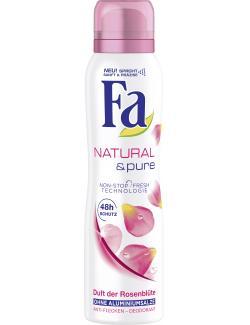 Fa Natural & Pure Deospray Duft der Rosenblüte  (150 ml) - 4015100180978