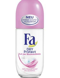 Fa Dry Protect Deo Roll-on Duft der Baumwollblüte  (50 ml) - 4015100180459