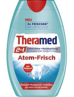 Theramed 2in1 Zahncreme + Mundspülung Atem-Frisch  (75 ml) - 4015100183986