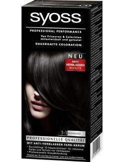 Syoss Professional Performance Coloration 1-1 schwarz  (115 ml) - 4015100010558