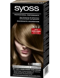 Syoss Professional Performance Coloration 6-8 dunkelblond  (115 ml) - 4015100010800