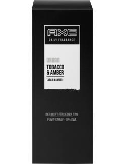 Axe Daily Fragrance Urban Pump Spray Tobacco & Amber  (100 ml) - 8710908265815