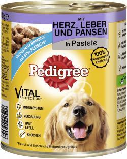 Pedigree Pastete mit Herz, Leber & Pansen  (800 g) - 4008429056048