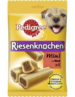 Pedigree Riesenknochen Mini mit Rind  (4 St.) - 5998749110409
