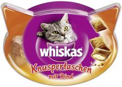 Whiskas Knuspertaschen mit Rind  (60 g) - 5998749108574