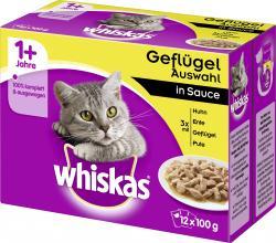 Whiskas 1+ Geflügel Auswahl in Sauce  (12 x 100 g) - 4008429010941