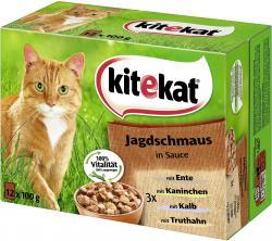 Kitekat Jagdschmaus in Sauce  (12 x 100 g) - 4008429011269