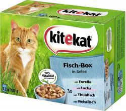 Kitekat Fisch-Box in Gelee  (12 x 100 g) - 4008429023231