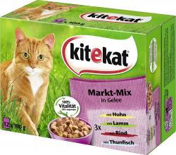 Kitekat Markt-Mix in Gelee  (12 x 100 g) - 4008429023255
