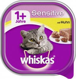 Whiskas 1+ Sensitive mit Huhn  (100 g) - 4008429049675