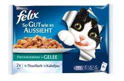 Felix So gut wie es aussieht mit Thunfisch & Kabeljau  (4 x 100 g) - 3222270125154