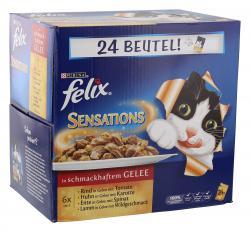 Felix Sensations Fleischauswahl in Gelee  (24 x 100 g) - 7613033044236
