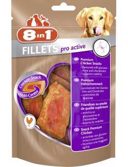 8in1 Fillets Pro Active Premium Chicken Snack  (80 g) - 4048422111870