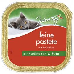 Jeden Tag Feine Pastete mit Stückchen Kaninchen & Pute  (100 g) - 42263906