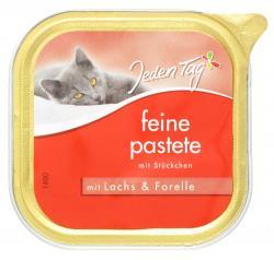 Jeden Tag Feine Pastete mit Stückchen Lachs & Forelle  (100 g) - 42263890