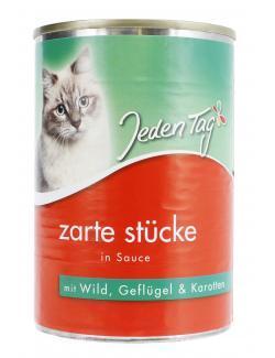 Jeden Tag Zarte Stücke in Sauce Wild, Geflügel & Karotten  (415 g) - 4306180182779