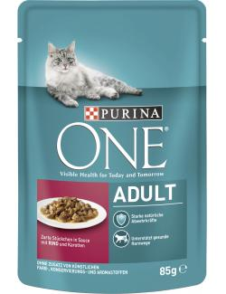 Purina One Adult Rind & Karotten  (85 g) - 7613034452696