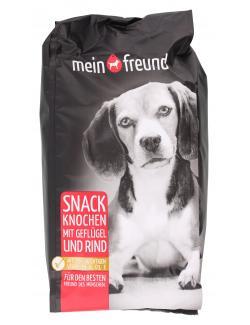 Mein Freund Hund Snack Knochen mit Geflügel und Rind  (400 g) - 4306188329671