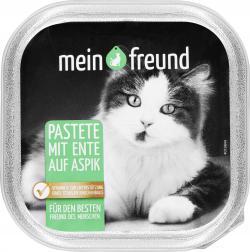 Mein Freund Katze Pastete Geflügel und Wild auf Aspik  (100 g) - 42271260
