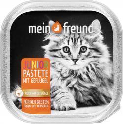 Mein Freund Katze Junior Pastete mit Geflügel  (100 g) - 42271321