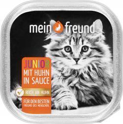 Mein Freund Katze Junior mit Huhn in Sauce  (100 g) - 42271338