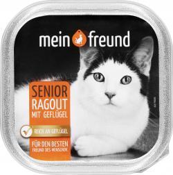 Mein Freund Katze Senior Ragout mit drei Sorten Geflügel in Sauce  (100 g) - 42271314