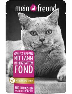 Mein Freund Katze Genuss Happen mit Lamm in herzhaftem Fond  (100 g) - 4306188302575