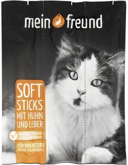 Mein Freund Katze Softsticks mit Huhn und Leber  (3 St.) - 4306188307846