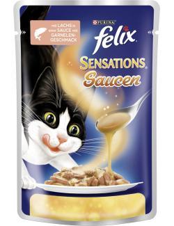 Felix Sensations Soßen-Sause mit Lachs in Soße mit Garnelengeschmack  (100 g) - 7613034496140