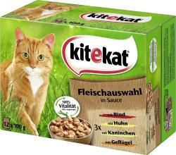 Kitekat Fleischauswahl in Sauce  (12 x 100 g) - 4008429053696