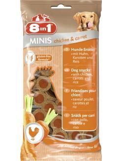 8in1 Minis Chicken & Carrot  (100 g) - 4048422122722