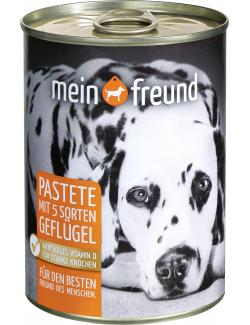 Mein Freund Hund Pastete mit 5 Sorten Geflügel  (400 g) - 4306188349693