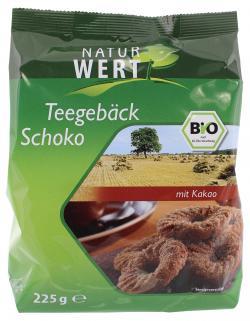 NaturWert Bio Teegebäck Schoko  (225 g) - 4250780302177