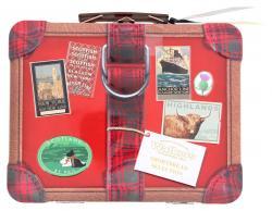 Walkers Suitcase Mini Shortbread Tin  (250 g) - 39047018266