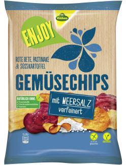 Kühne Enjoy Gemüsechips mit Meersalz verfeinert  (75 g) - 4012200328002