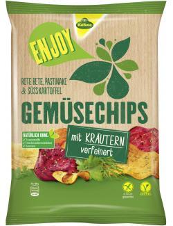 Kühne Enjoy Gemüsechips mit Kräutern verfeinert  (75 g) - 4012200328200
