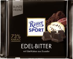 Ritter Sport Bunte Vielfalt Edel-Bitter  (100 g) - 4000417260000
