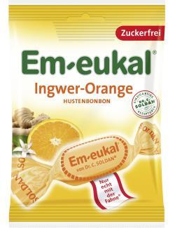 Em-eukal Hustenbonbons Ingwer-Orange zuckerfrei  (75 g) - 4009077026018