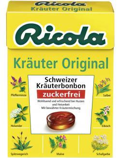 Ricola Kräuter Original zuckerfrei  (50 g) - 7610700607008