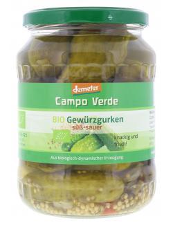 Demeter Campo Verde Bio Gewürzgurken süß-sauer  (430 g) - 4045178002520